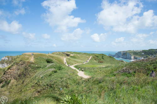 Chemins de randonnée en haut de la falaise