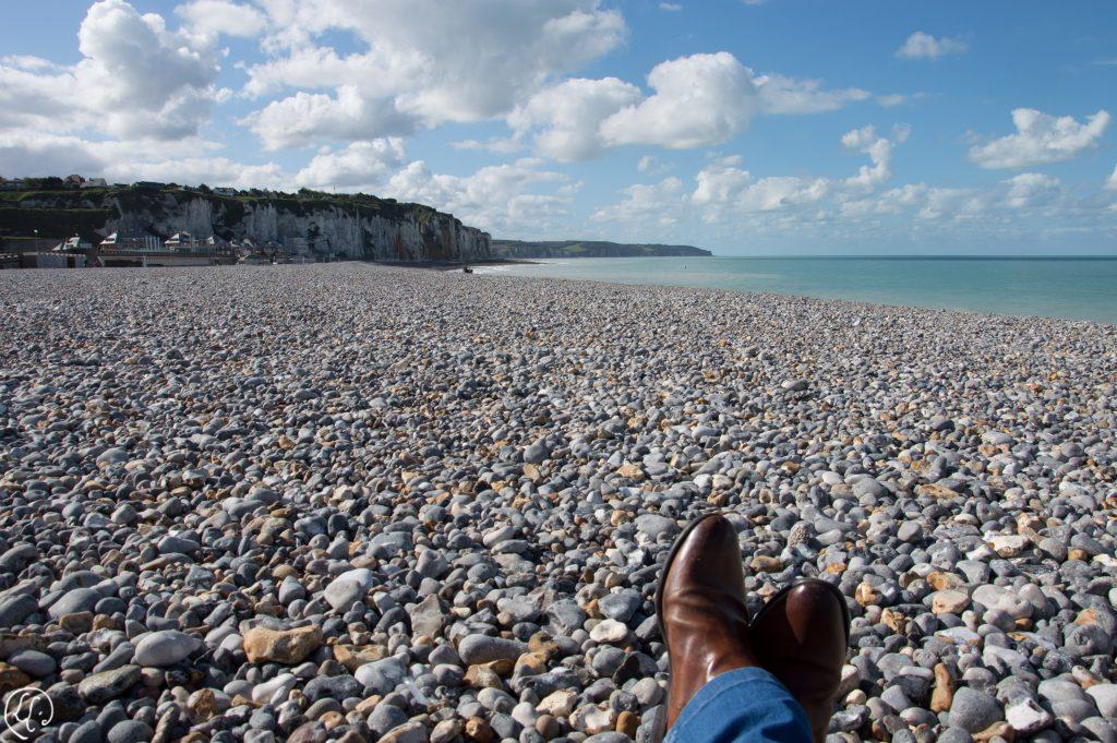 La plage de galets à Dieppe