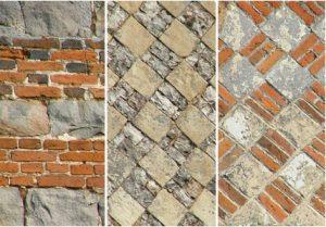 Détails : 3 différents motifs de façades