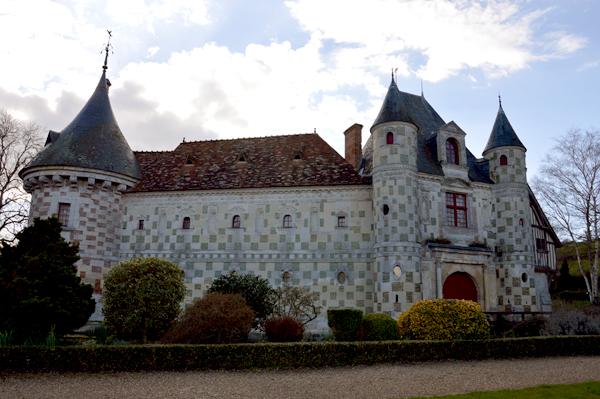 Le château de Saint-Germain de livet dans le Calvados