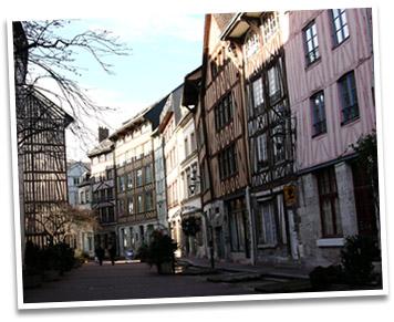 Rue eau de Robec à Rouen