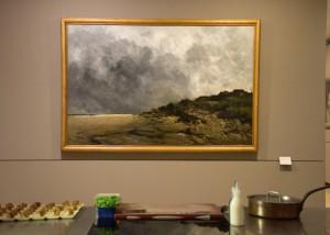 """Tableau """"La plage de Villerville"""" d'Antoine Guillemet - Musée des Beaux Arts de Caen"""