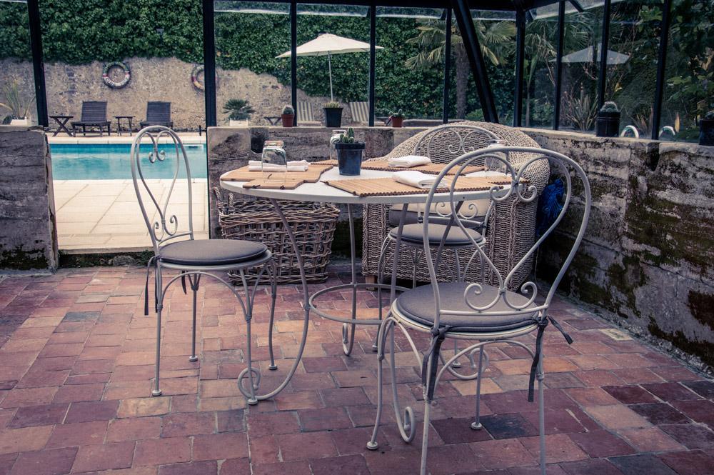 Déjeuner sous la verrière, restaurant éphémère Le petit Jardin