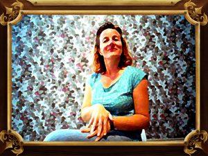 Portrait intime actuel façon peintre impressionniste