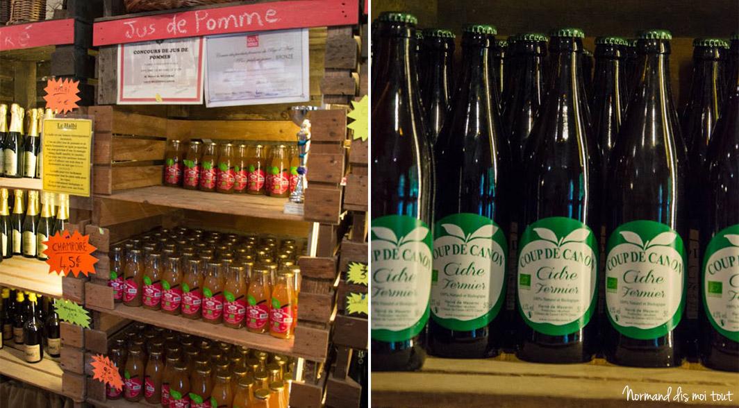La boutique de la ferme : cidres, jus de pommes et produits du terroir