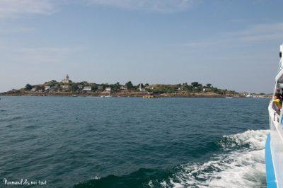 Traversée vers l'île Chausey