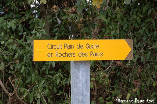 Signalisation de la randonnée (circuit jaune)