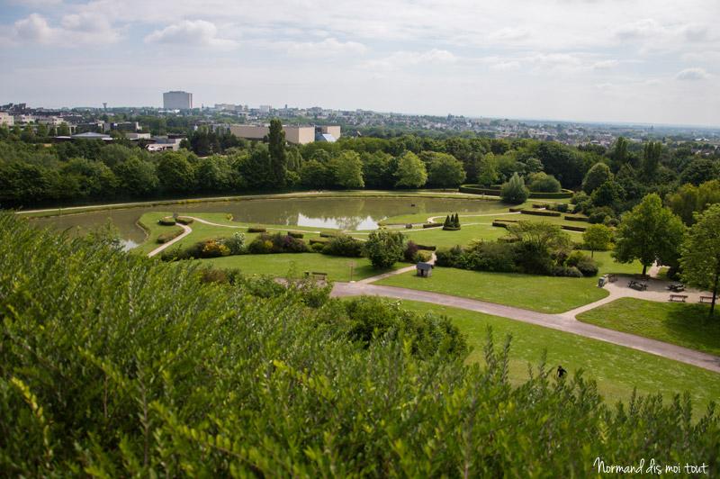Panorama du parc floral de Caen