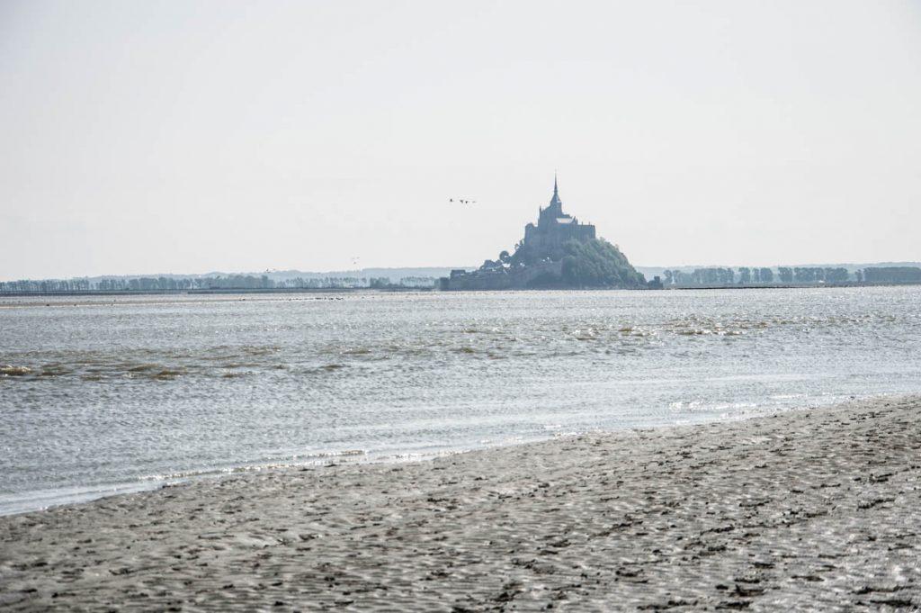 Montée des eaux près du Mon-Saint-Michel