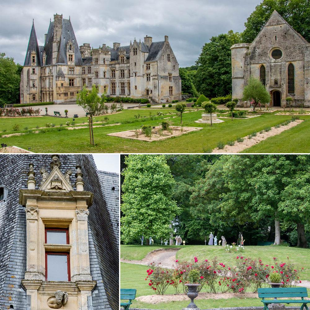 Le château de Fontaine-Henry, la chapelle et les jardins