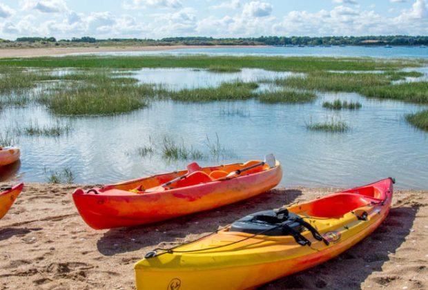 Kayak en Normandie dans la baie de l'Orne