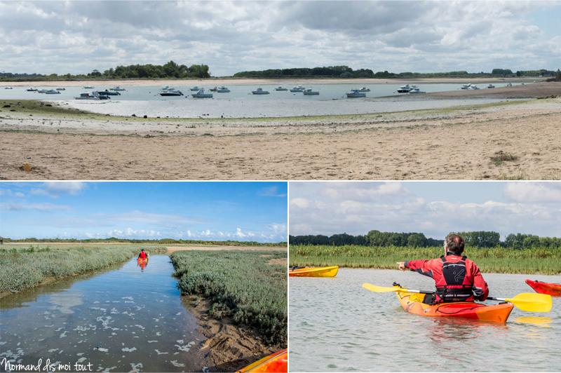 Kayak en Normandie dans la baie de Sallenelles