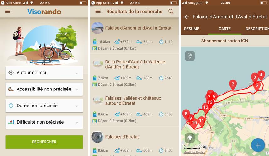 Randonnée en Normandie : application viso rando