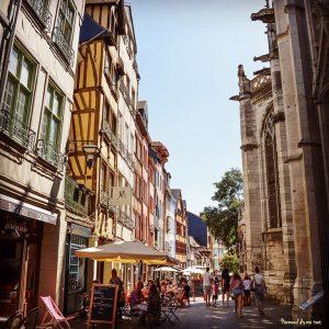 Rouen, en direction du quartier des antiquaires