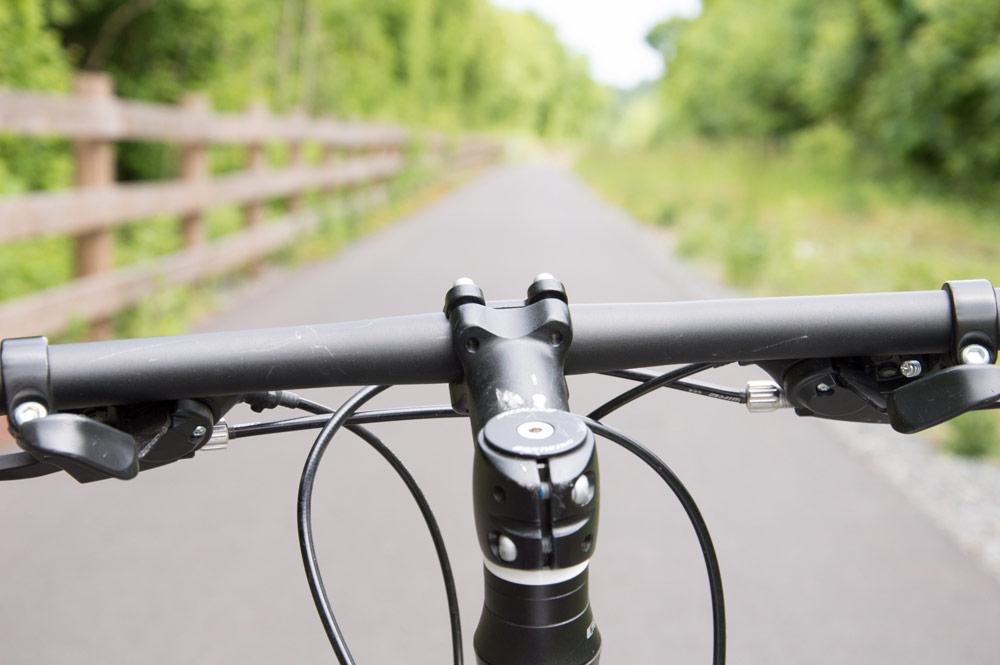 En vélo sur la voie verte