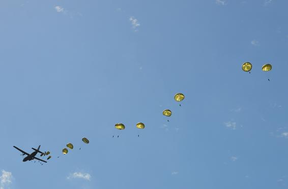 Parachutage lors du D Day