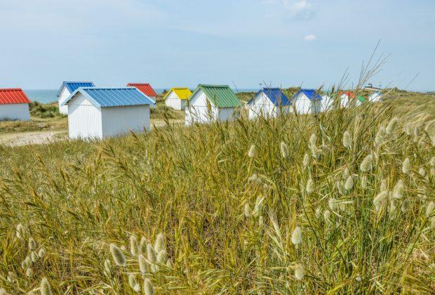 Les cabines colorées de Gouville