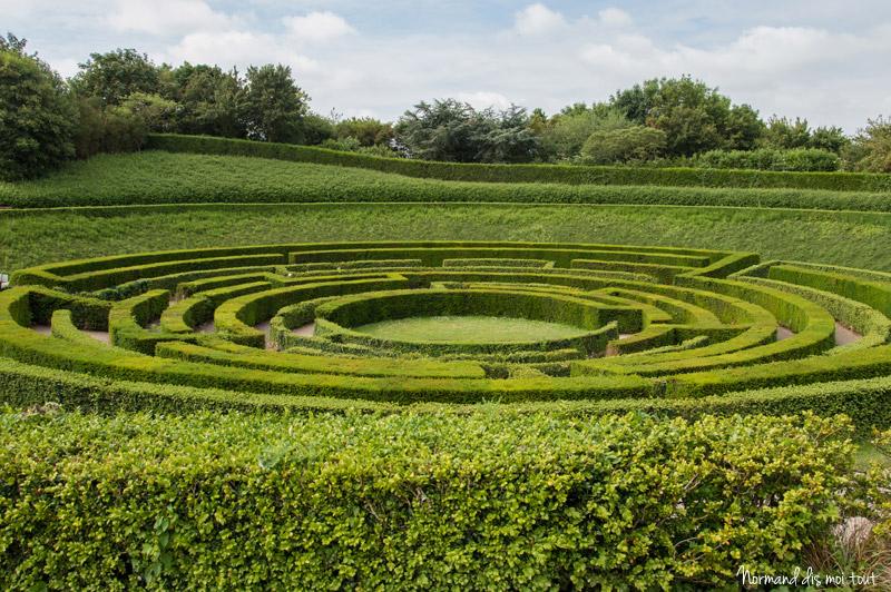 Le labyrinthe du parc floral de Caen