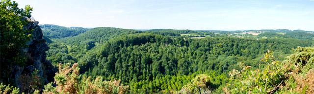 Panorama de la roche d'Oëtre