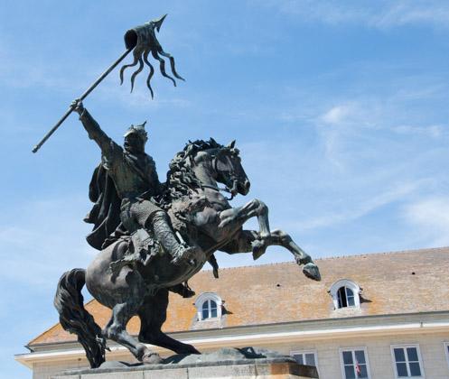 Statue de Guillaume le Conquérant (Duc de Normandie de 1035 à 1087)