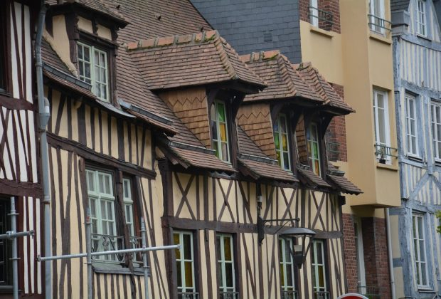 façades colombages de la ville de Rouen