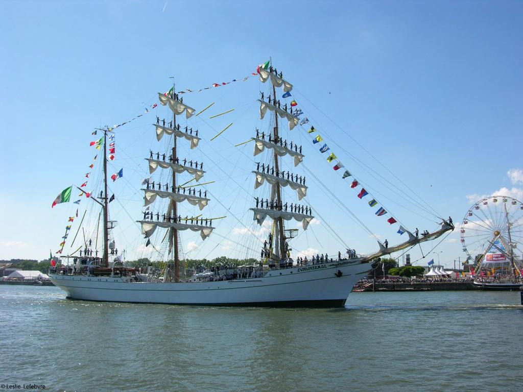 Cuauhtémoc, le voilier mexicain ©Leslie LEFEBVRE - Tous droits réservés